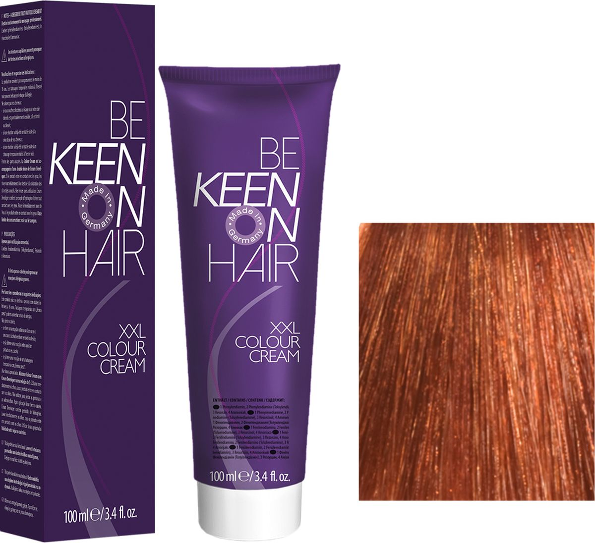 Keen Краска для волос 8.4 Медный блондин Blond Kupfer, 100 мл