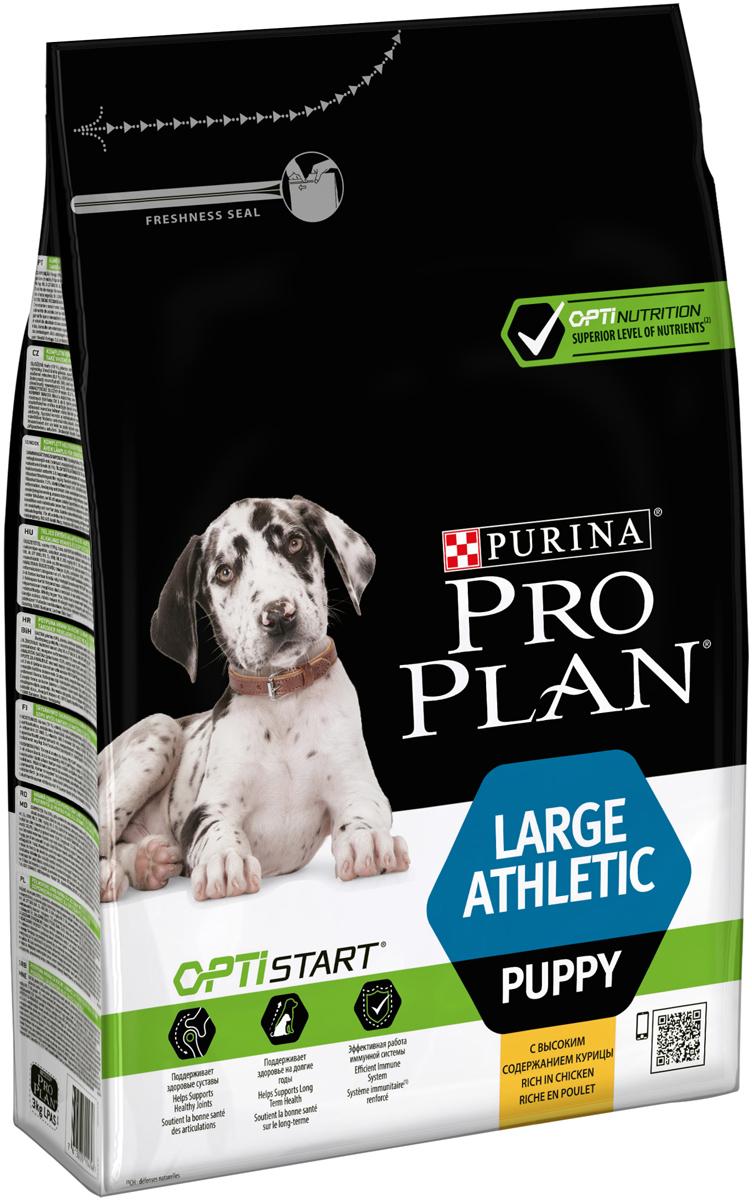 """Корм сухой Pro Plan """"Athletic"""" для щенков крупных пород, с курицей и рисом, 3 кг"""
