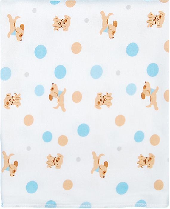 Чудесные одежки Пеленка текстильная Собачка цвет белый бежевый голубой 120 х 90 см цены