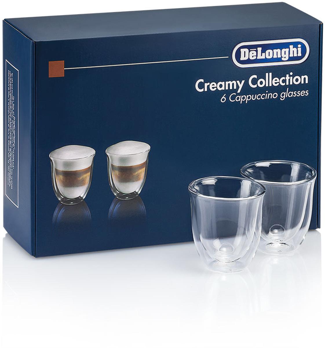 DeLonghi Cappuccino Glasses Set чашки, 6 шт