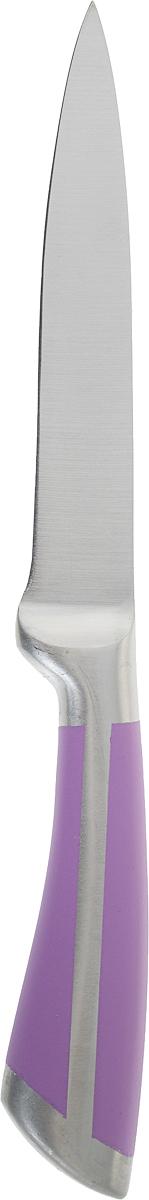 """Нож универсальный Доляна """"Горец"""", цвет: серый, фиолетовый, длина лезвия 12,5 см. 1010153"""