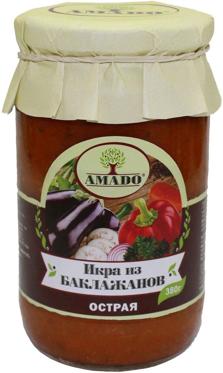 Amado икра из баклажанов острая, 380 г цены