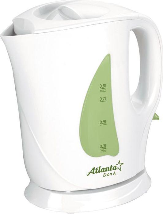 Электрический чайник Atlanta ATH-717, Green электрический чайник atlanta ath 2432 черный