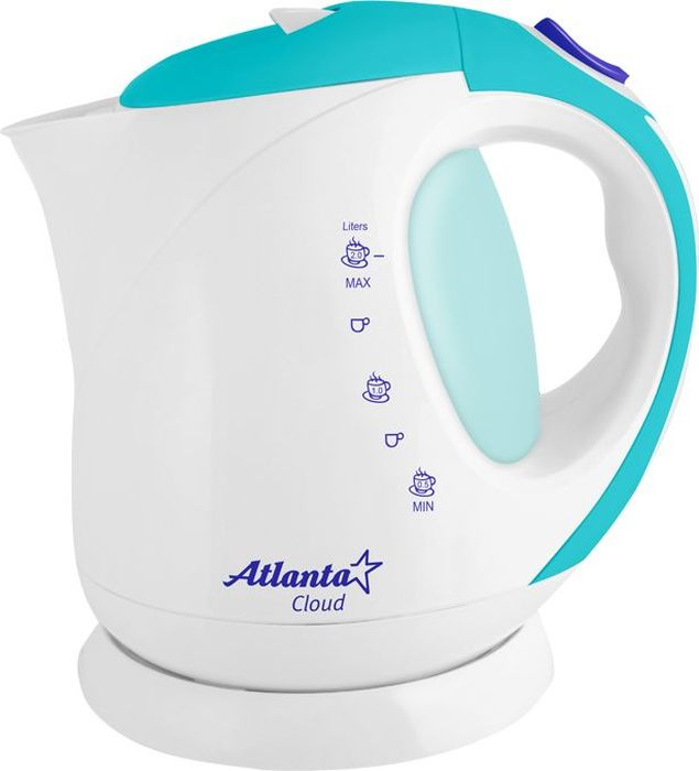 Atlanta ATH-630, White Blue чайник электрический