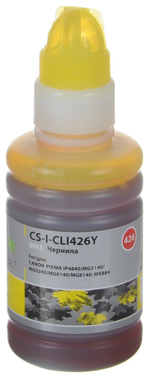 Cactus CS-I-CLI426Y, Yellow чернила для Canon Pixma MG5140/5240/6140/8140/MX884 cactus cs r can425 color комплект картриджей для canon pixma ip4840 mg5140 5240