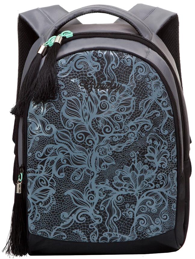 Рюкзак молодежный женский Grizzly, цвет: серый, 12 л. RD-638-1/2 рюкзак молодежный женский grizzly цвет серый розовый 12 5 л rd 755 2 2