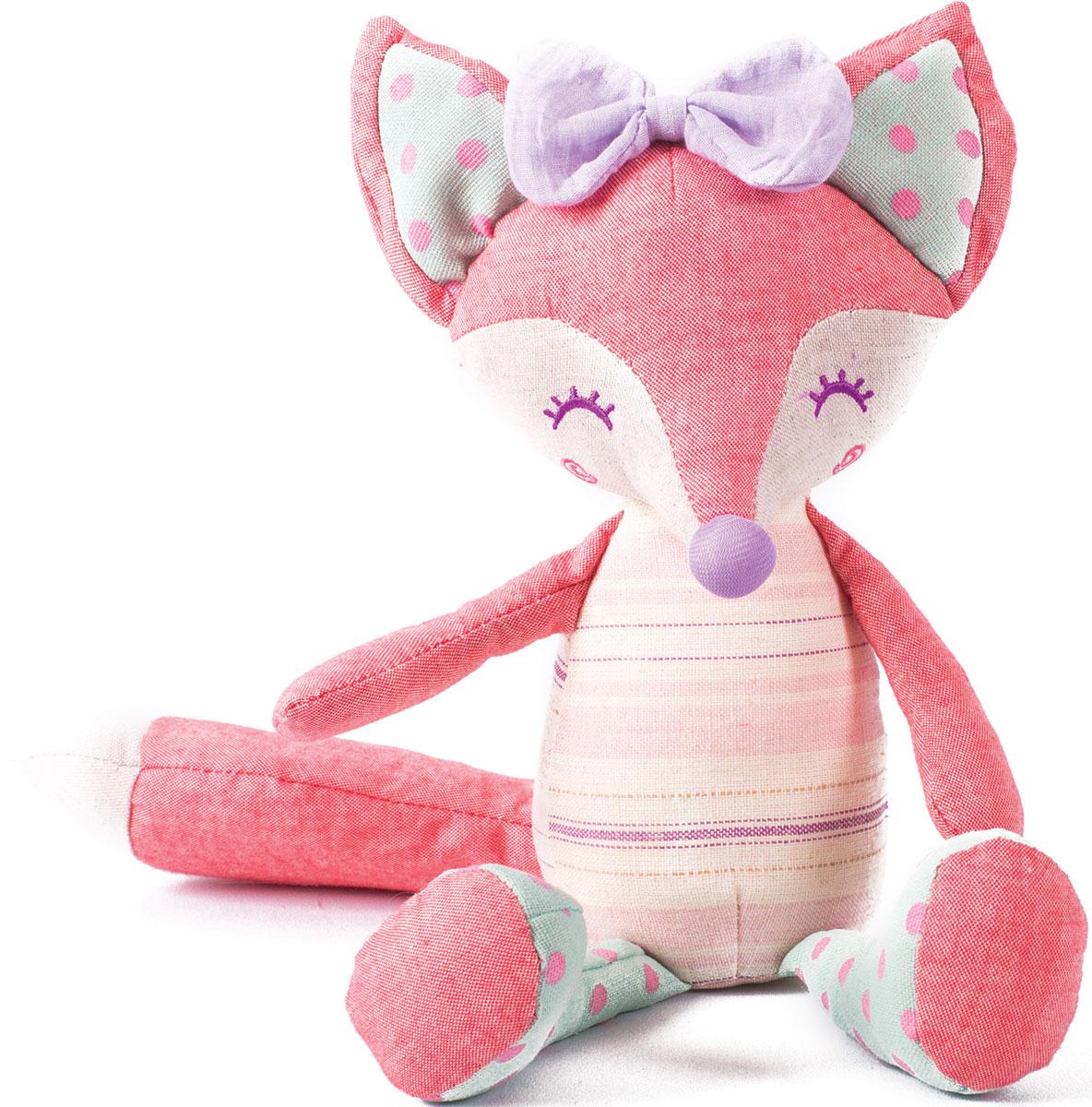 Gulliver Мягкая игрушка Лисичка Розочка 23 см