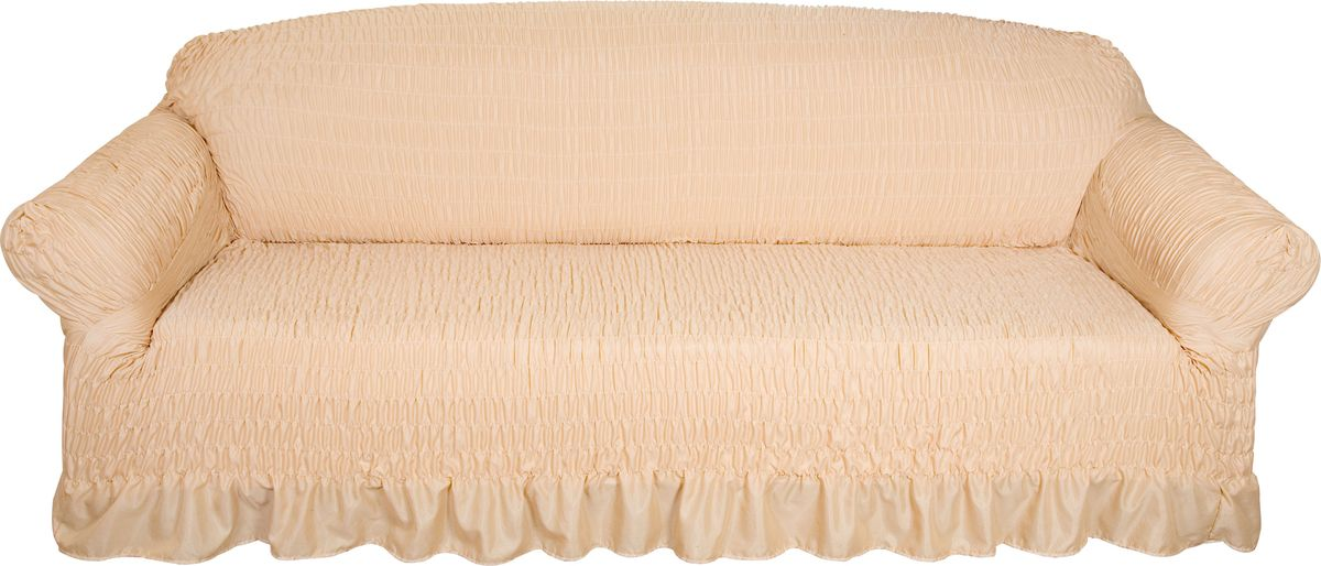 Чехол на трехместный диван Медежда Дэйзи, цвет: бежевый цена