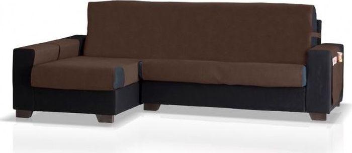 Накидка на угловой диван Медежда Иден, левый угол, цвет: шоколадный