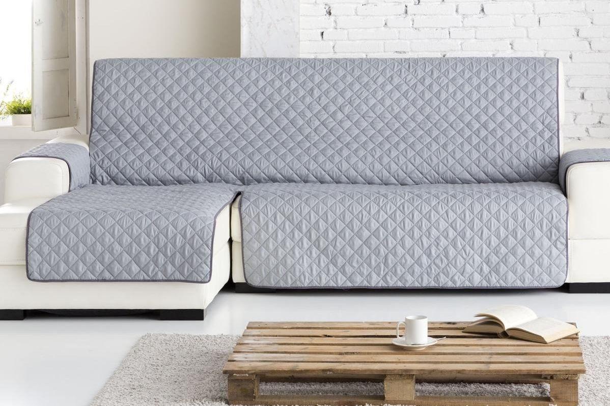 Накидка на угловой диван Медежда Йорк, левый угол, цвет: светло-серый