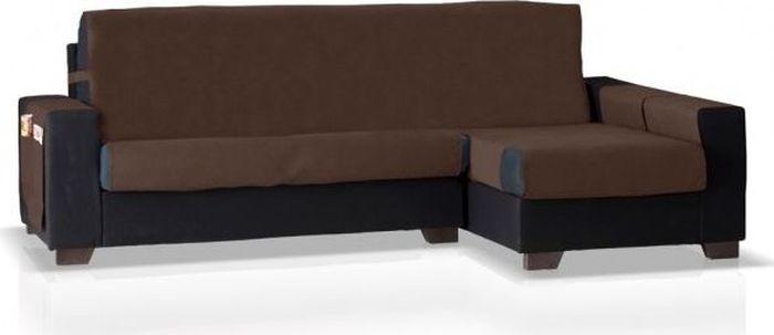 Накидка на угловой диван Медежда Иден, правый угол, цвет: шоколадный