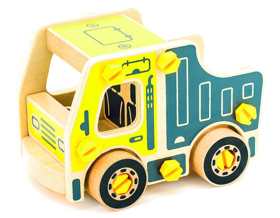 Игрушки из дерева Конструктор Самосвал деревянные игрушки letoyvan набор миксер с продуктами