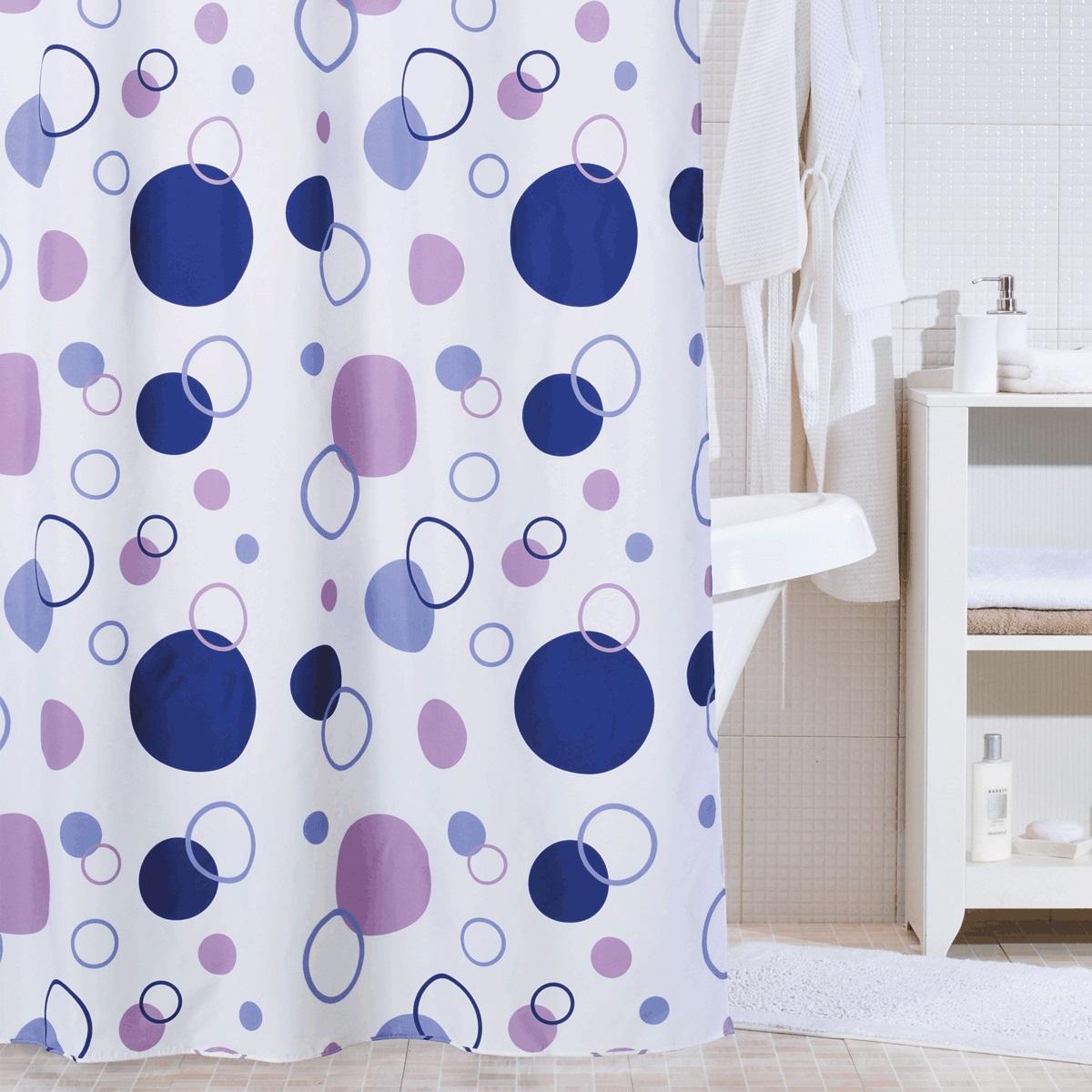 Штора для ванной Iddis Floating Balloon, цвет: мультиколор, 200 x 240 см