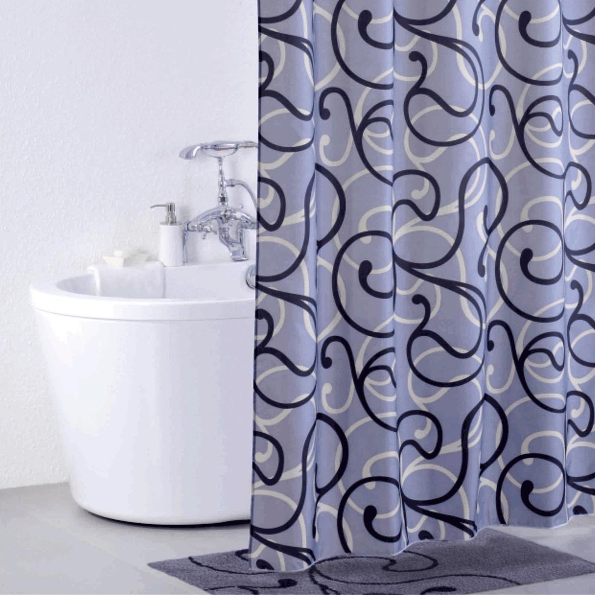 Штора для ванной Iddis Flower Lace Grey, цвет: серый, 200 x 200 см штора для ванной iddis blue butterfly цвет голубой 200 x 200 см