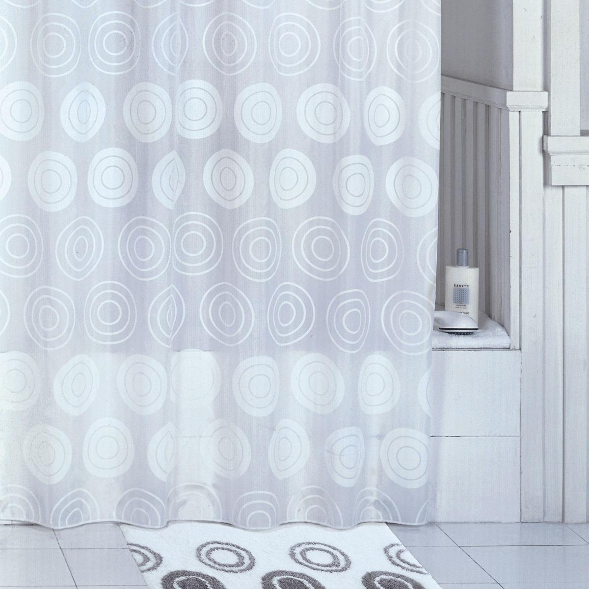 Штора для ванной Iddis Chequers White, цвет: белый, 200 x 200 см штора для ванной iddis blue butterfly цвет голубой 200 x 200 см