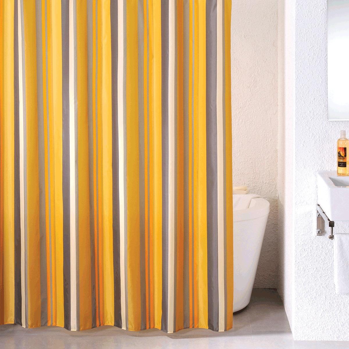 Штора для ванной Milardo Quiet Stripes, цвет: оранжевый, 180 x 200 см термопаста be quiet dc1 3 г bz001