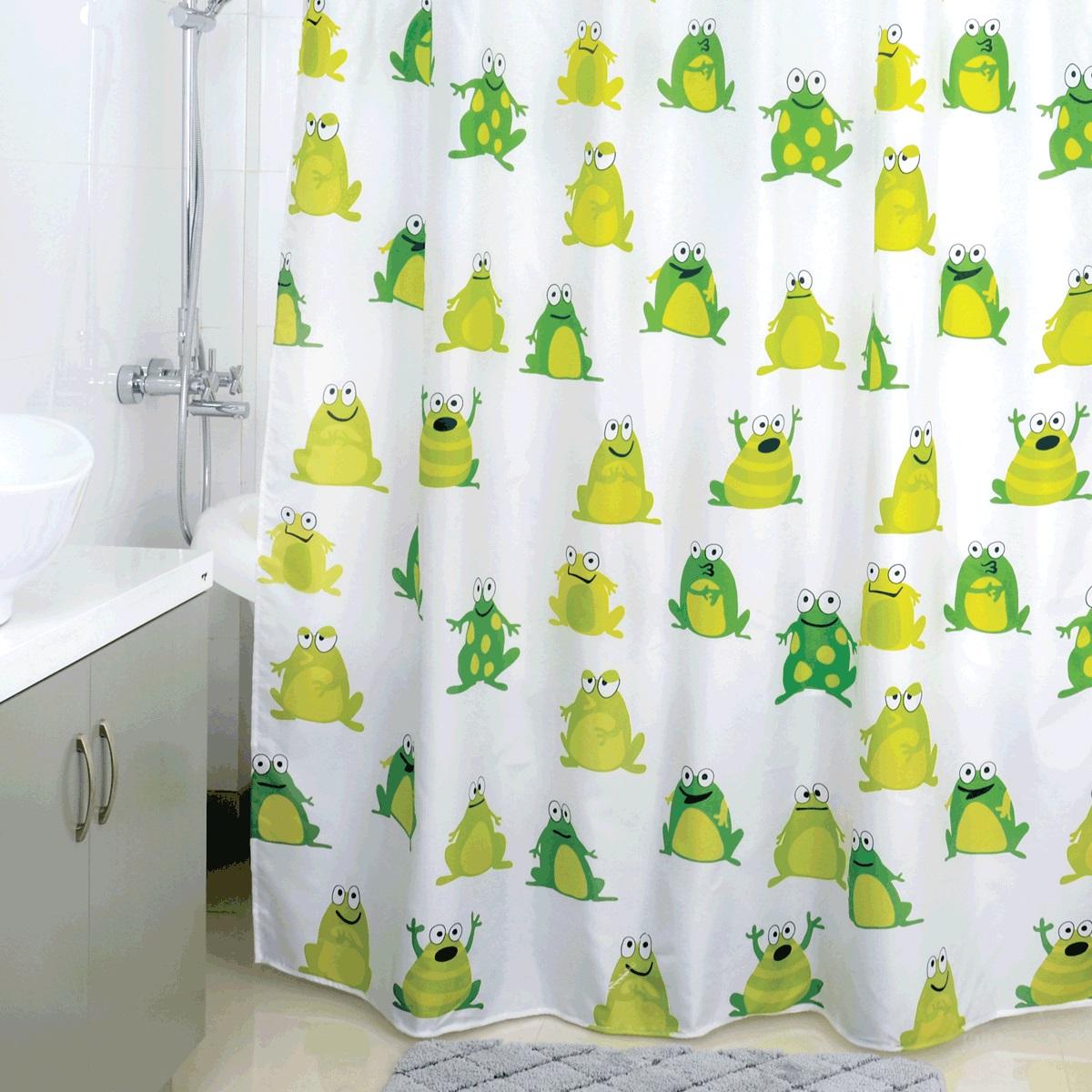 """<b>Штора для ванной Milardo</b> """"Frogs Pool"""", цвет: мультиколор, 180 x ..."""