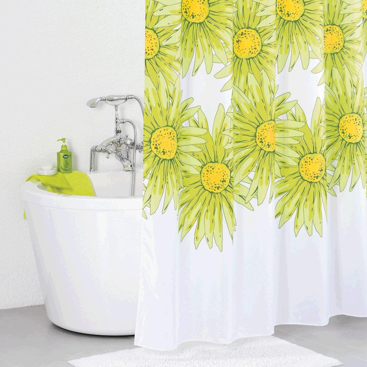 Штора для ванной Iddis Green Blossom, цвет: белый, зеленый, 200 x 200 смSCID093PШтора для ванной комнаты Iddis выполнена из быстросохнущего материала - 100% полиэстера, что обеспечивает прочность изделия и легкость ухода за ним. Материал шторы пропитан специальным водоотталкивающим составом Waterprof. Изделие изготовлено из экологически-чистого материала, оно обладает высокой степенью гигиеничности, не вызывает аллергических реакций. Штора имеет 12 металлических люверсов. В комплекте: штора и кольца.