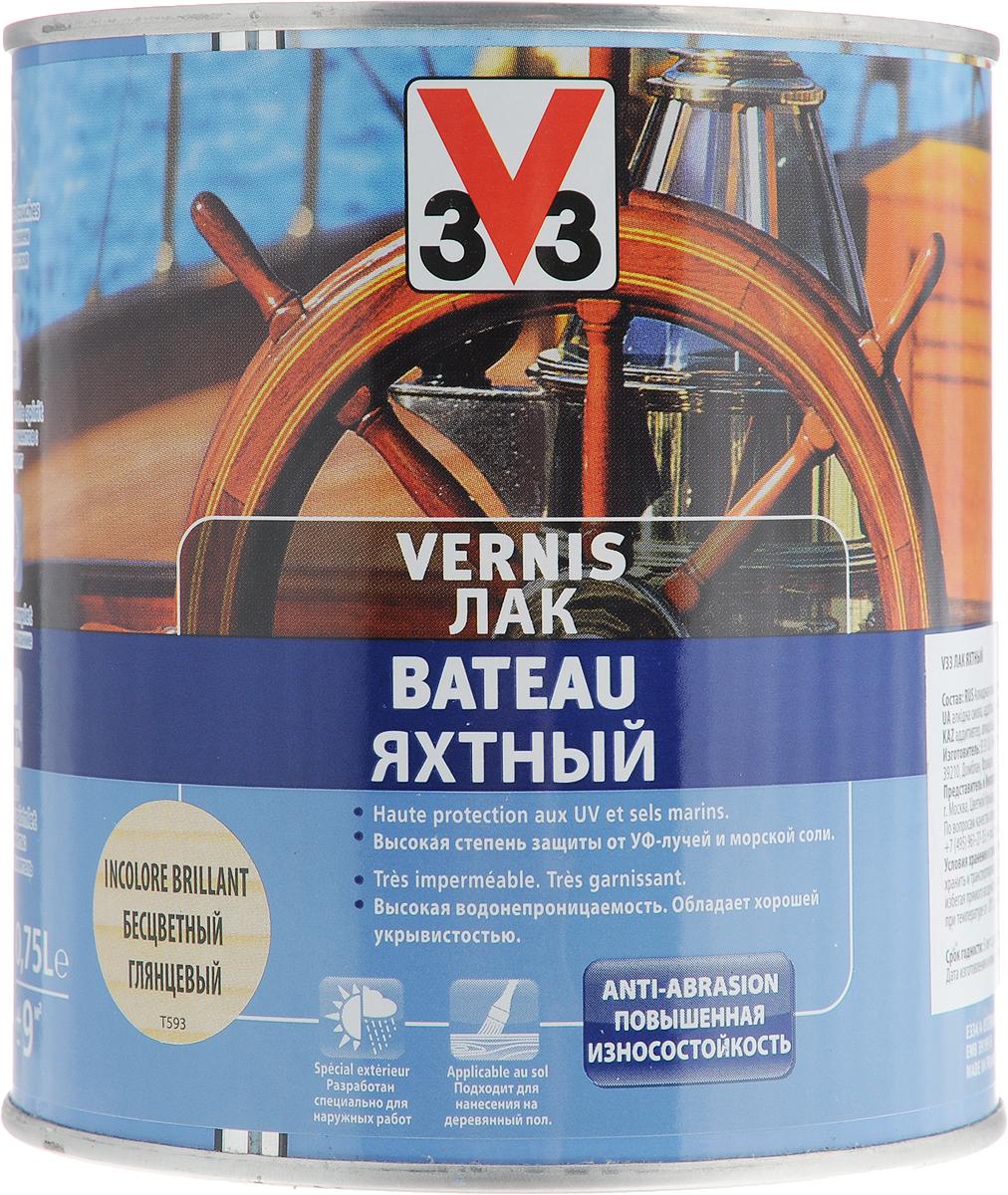 Лак яхтный V33, глянцевый, цвет: прозрачный, 0,75 л лак яхтный рогнеда eurotex полуматовый 10л