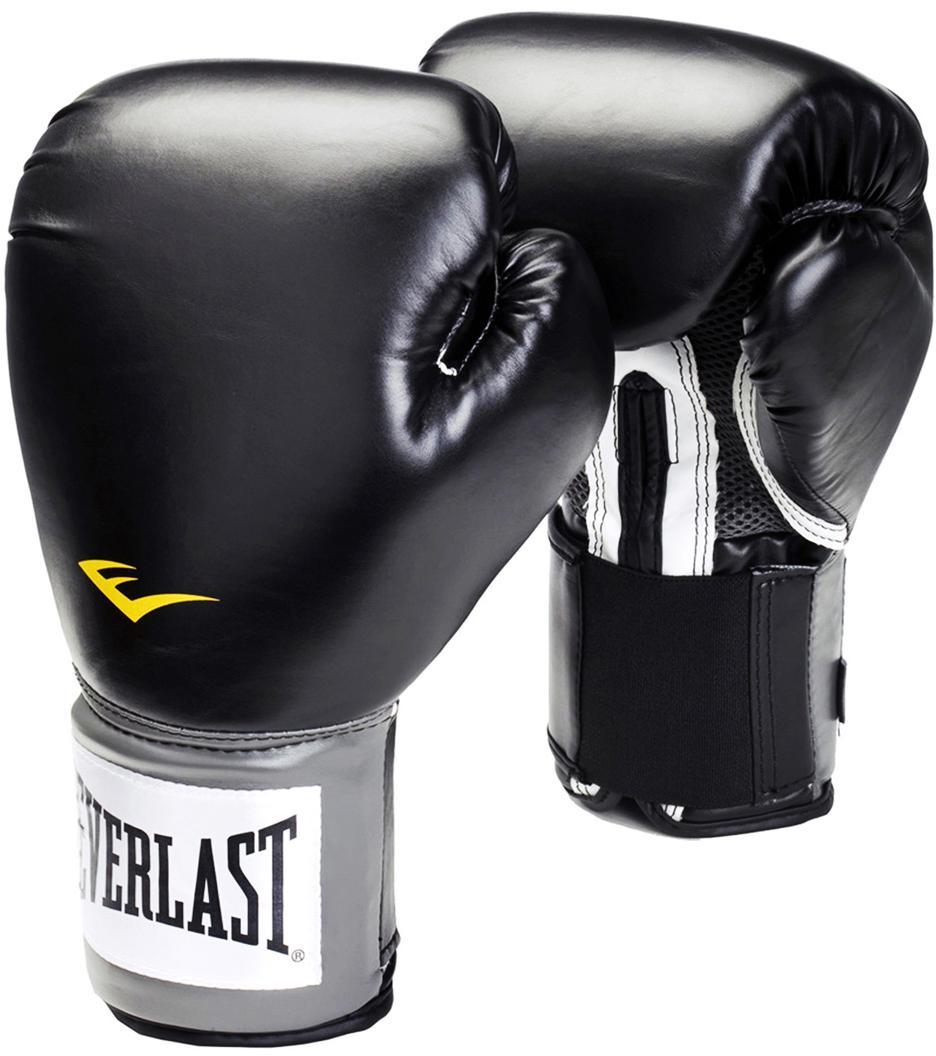 """Перчатки боксерские Everlast """"Pro Style Anti-MB"""", цвет: черный, 14 oz. 2314U"""