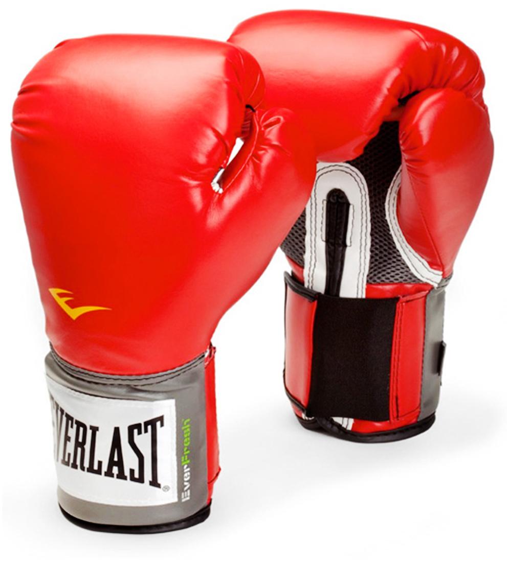 Перчатки боксерские Everlast Pro Style Anti-MB 2114U, цвет: красный, 14 oz перчатки боксерские everlast pro style elite 2112e цвет красный 12 oz