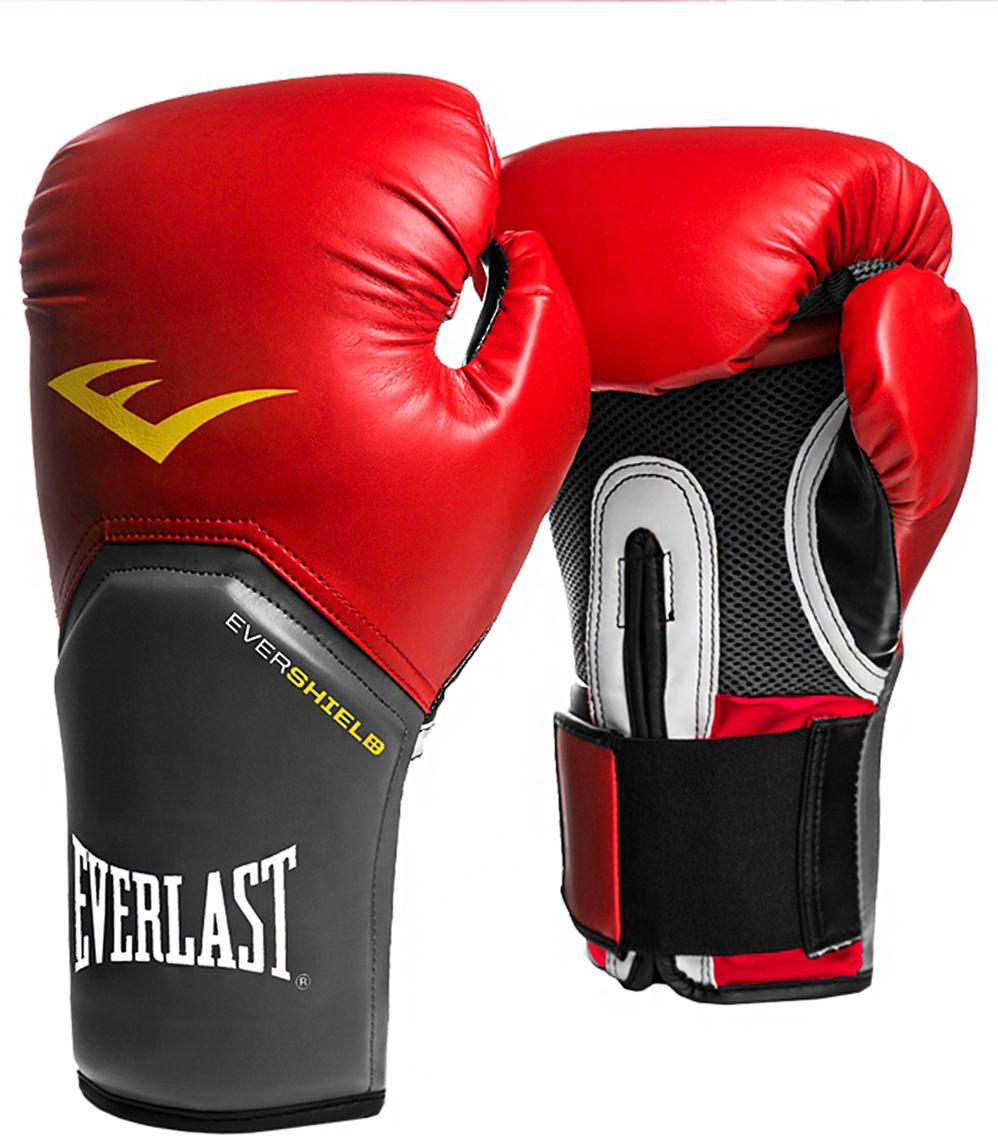 Перчатки боксерские Everlast Pro Style Elite 2112E, цвет: красный, 12 oz перчатки тренировочные everlast pro style elite