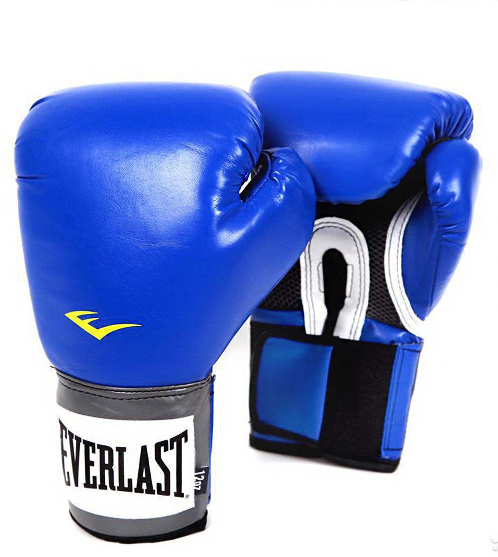 "Перчатки боксерские Everlast ""Pro Style Anti-MB"", цвет: синий, 16 oz. 2216U"