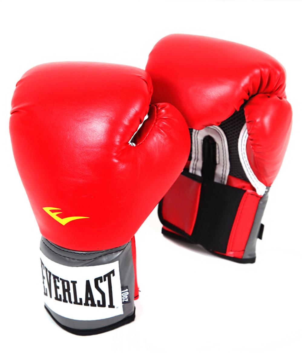 Перчатки боксерские Everlast Pro Style Anti-MB 2116U, цвет: красный, 16 oz