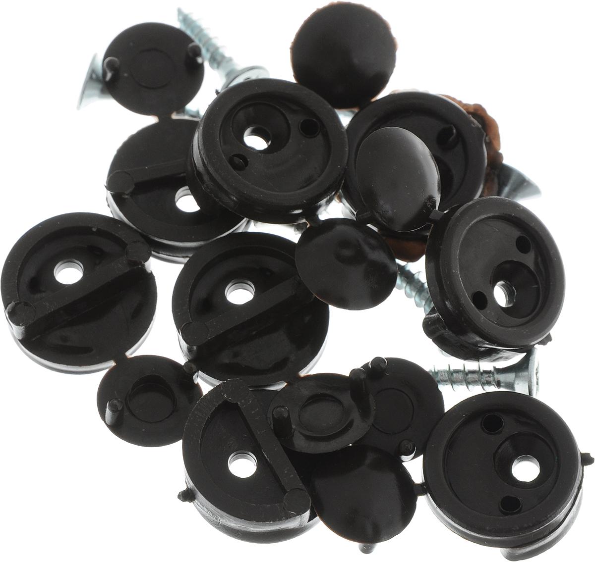 Зеркалодержатель Tech-Krep, с шурупами, цвет: темно-коричневый, 16 предметов