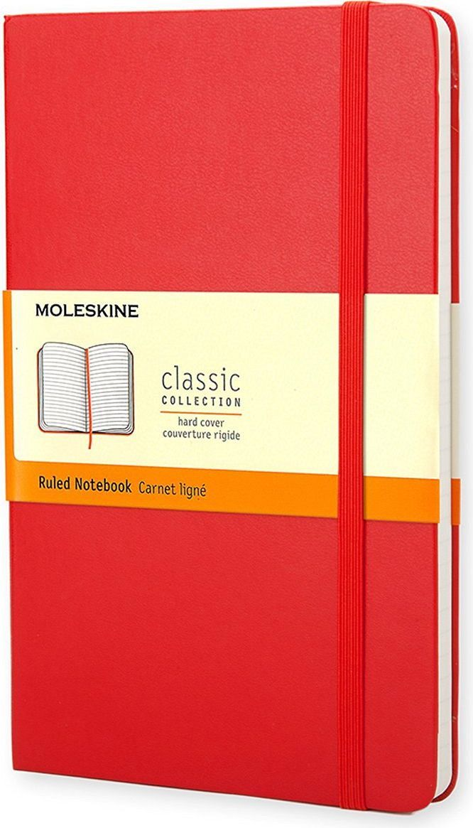 Moleskine Записная книжка Classic Large 120 листов в линейку цвет красный