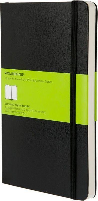 Moleskine Записная книжка Classic Large 120 листов без разметки цвет черный