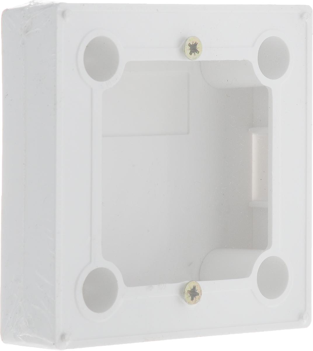 Бокс Rexant BN-01, для накладного монтажа электроустановочных изделий, цвет: белый терморегулятор механический rexant rx 308b