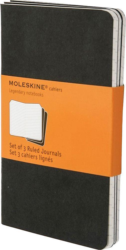Moleskine Набор записных книжек Cahier Large 40 листов в линейку цвет черный 3 шт