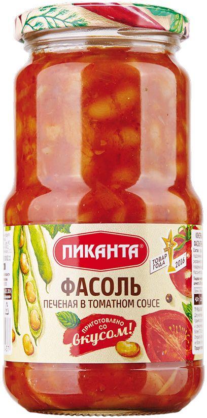 Пиканта фасоль печеная в томатном соусе, 530 г
