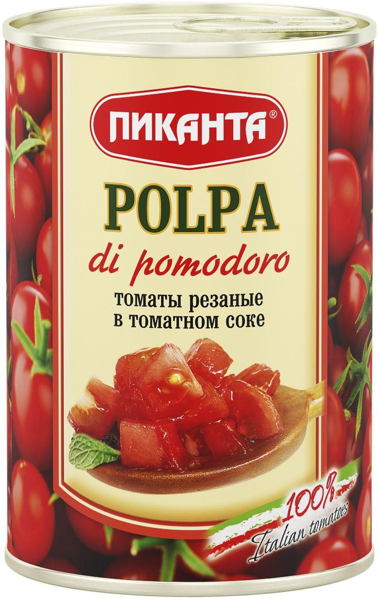 цена на Пиканта томаты резаные в томатном соке, 400 г