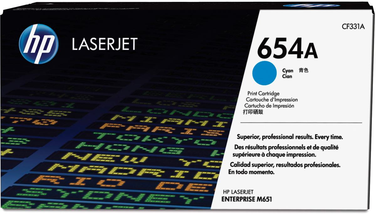 Картридж HP CF331A 654A, голубой, для лазерного принтера, оригинал hp 654a cyan cf331a