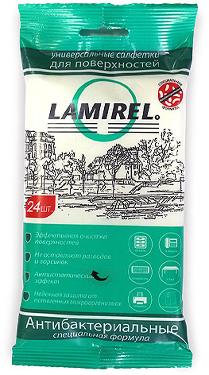 Lamirel LA-61617антибактериальные универсальные чистящие салфетки для электроники, 24 шт Lamirel