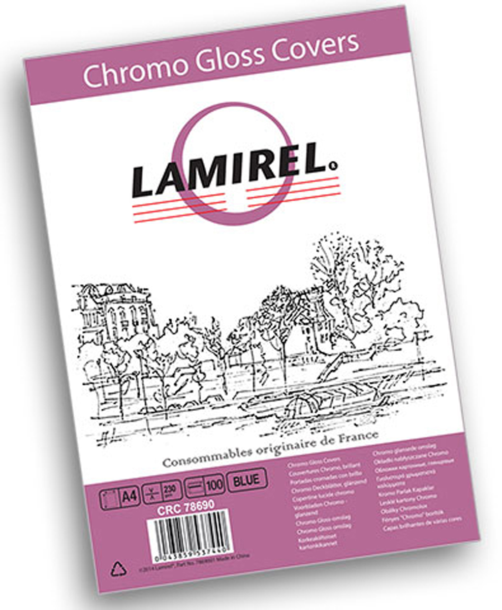 Lamirel Chromolux A4, Blue обложка для переплета (100 шт)