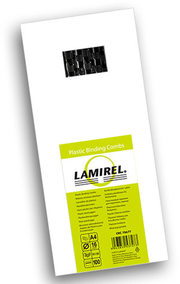 Lamirel LA-78677, Black пружина для переплета, 16 мм (100 шт)