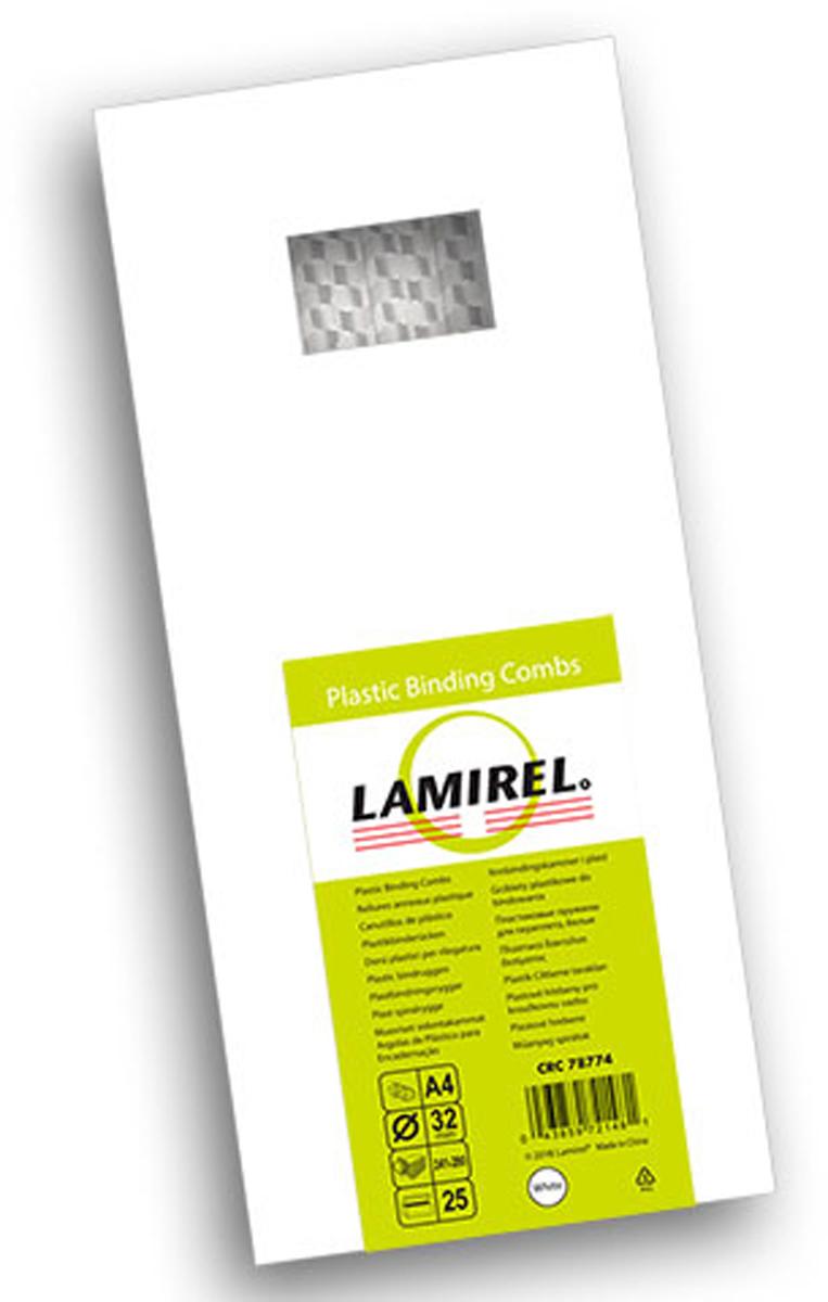 Lamirel LA-78774, White пружина для переплета, 32 мм (25 шт) lamirel la 93565 невоспламеняющийся сжатый воздух 650 мл
