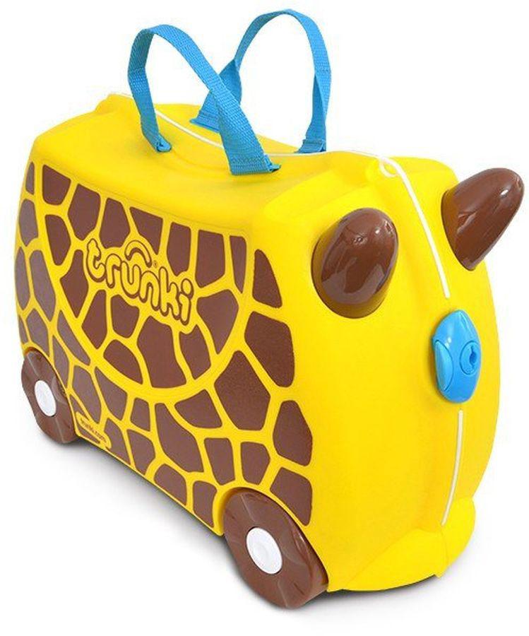 Trunki Чемодан детский Жираф Джери детские чемоданы trunki детская каталка чемодан taxi tony тони таксист
