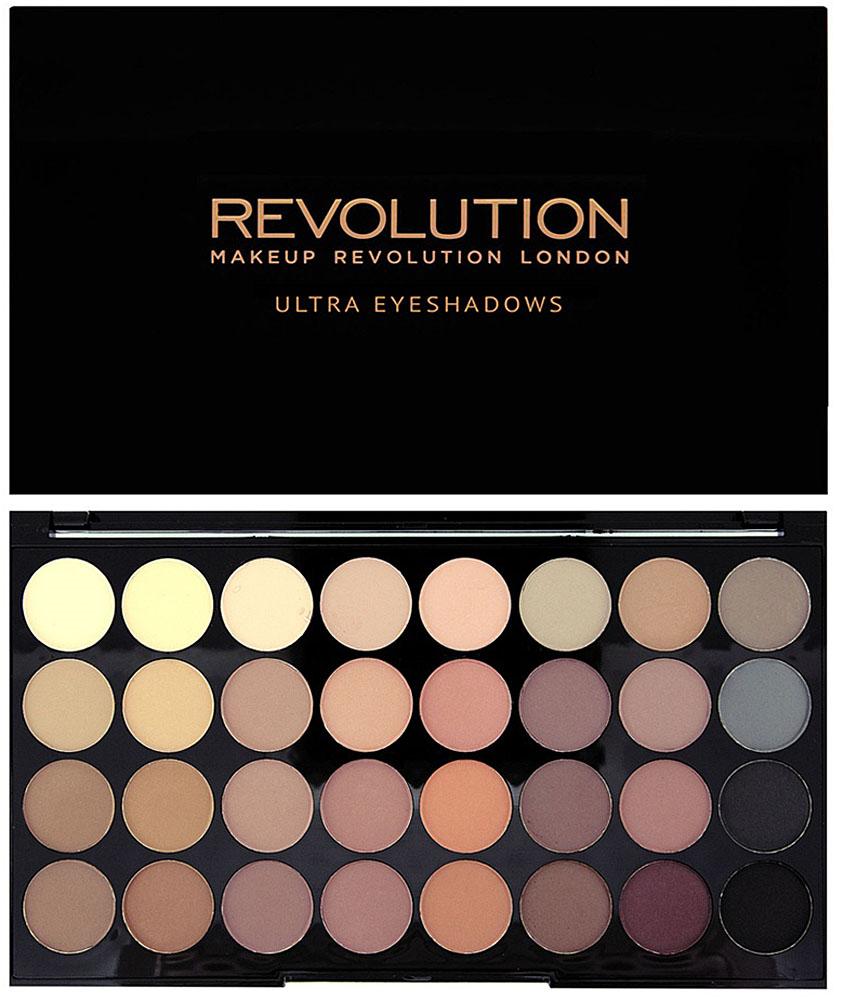 Makeup Revolution Набор из 32 теней 32 Eyeshadow Palette, Flawless Matte
