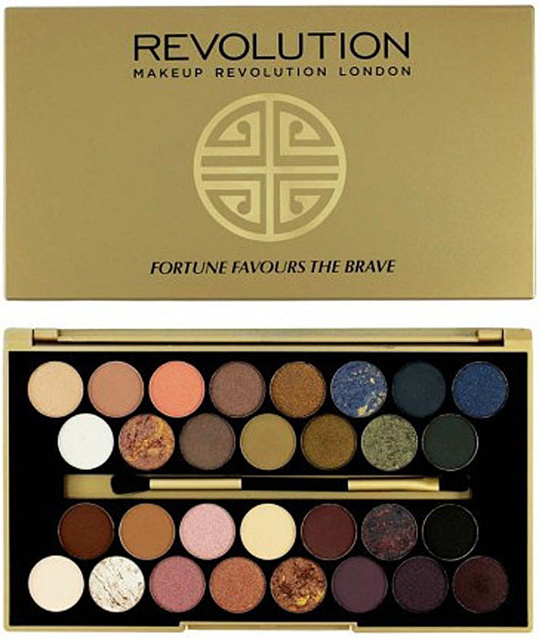 Makeup Revolution Набор из 30 теней 30 Eyeshadow Palette, Fortune Favours The Brave