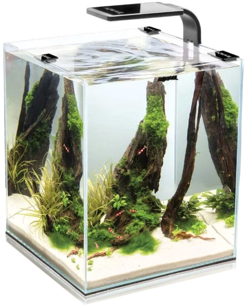 Aквариум Aquael Shrimp Set Smart Led Plant Ll 10, с освещением, цвет: черный, 10 л аквариум aquael shrimp set smart 10 белый 20х20х25см 10л