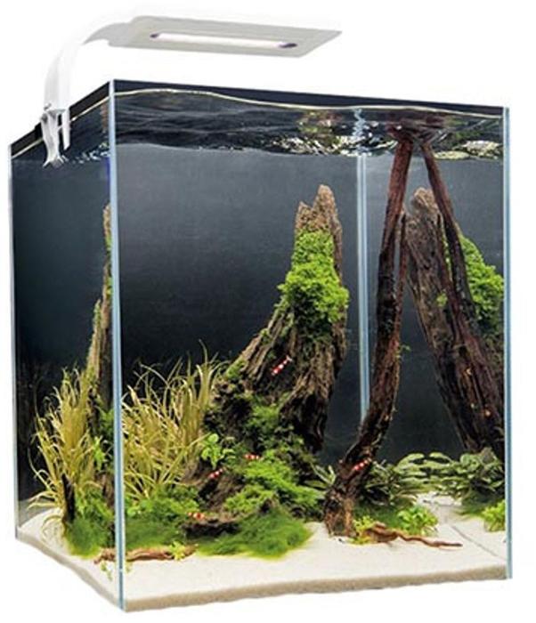 Aквариум Aquael Shrimp Set Smart Led Plant Ll 20, с освещением, цвет: белый, прозрачный, 20 л аквариум aquael shrimp set 10 leddy tube 10л