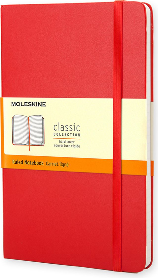 Фото - Блокнот Moleskine Moleskine Classic Moleskine Classic (в линейку) Pocket красный 9,5 см х 14 см блокнот moleskine classic для рисунков красный