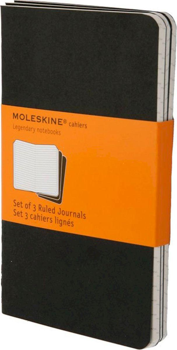 Moleskine Набор записных книжек Cahier Pocket 32 листа в линейку цвет черный 3 шт