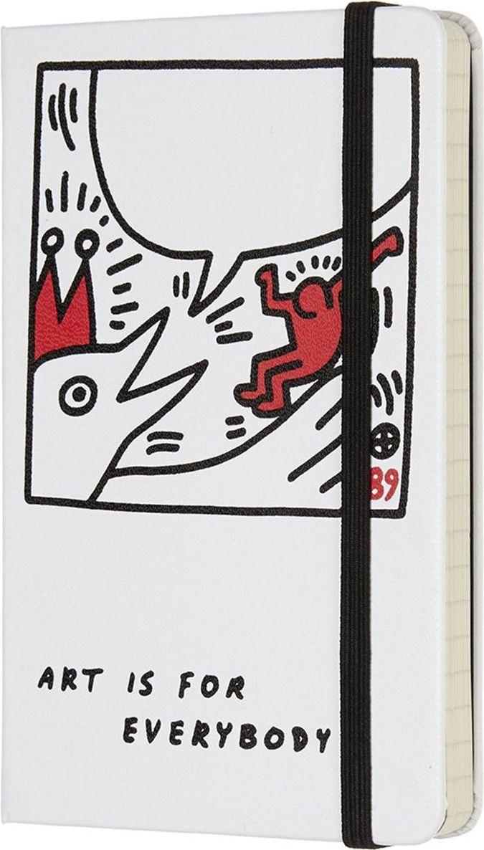 Moleskine Записная книжка Keith Haring Pocket 96 листов в линейку цвет белый