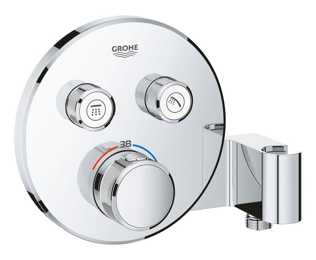 Внешняя часть термостата Grohe Grohtherm SmartControl. 29120000 набор подключения для универсального термостата grohe 47533000