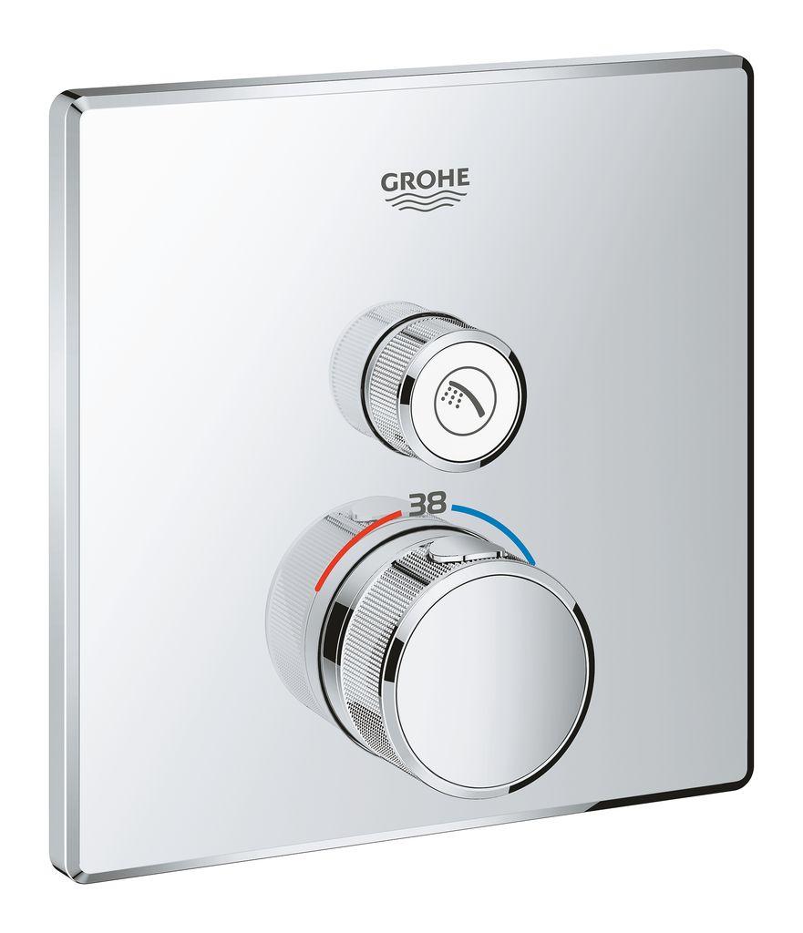 Внешняя часть термостата Grohe Grohtherm SmartControl. 29123000 набор подключения для универсального термостата grohe 47533000